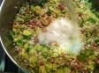 risotto zucchine porri e prosciutto cotto