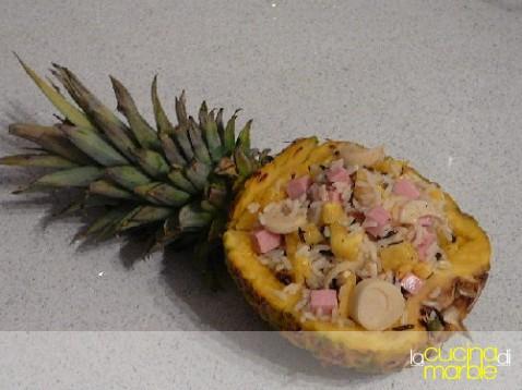 riso ananas cuori palma prosciutto