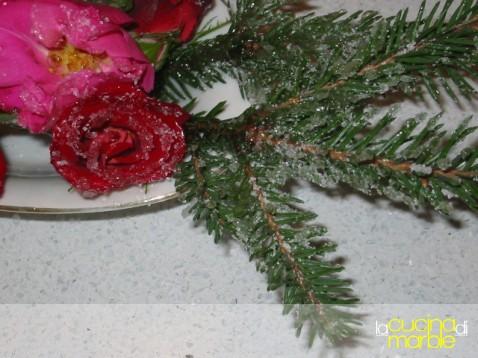 frutta e fiori brinati
