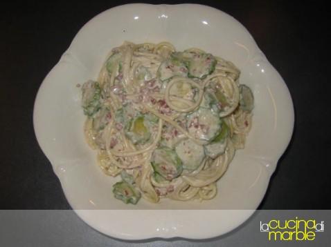 pasta con prosciutto e zucchine