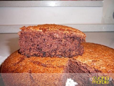 torta al cioccolato con solo albumi